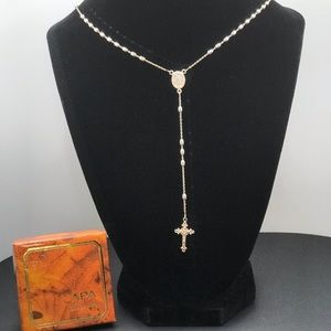 Dyadema, Italy 925 Sterling Silver Rosary Necklace